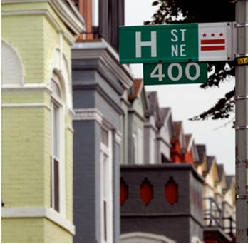 H Street DC sign