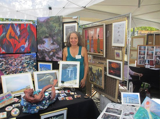 """Exhibitor at the Fifth Annual Downtown Hyattsville Arts Festival.  Photo Courtesy Hyattsville CDC"""