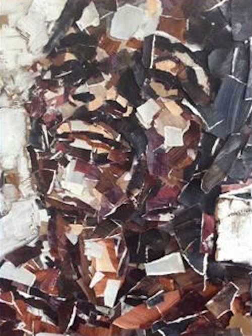 """""""Detail from work on view at Transforming Anew: Perspectives of Black Men at the Prince George's County African American Museum and Cultural Center ."""""""