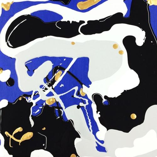 Painting on Blue, courtesy of Meg Biram
