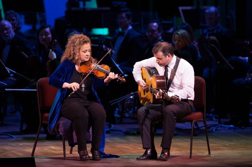 IRELAND 100 Festival Opening Performance—May 17, 2016_Liz Knowles and Pat Broaders with the National Symphony Orchestra_Photo by Margot Schulman-2